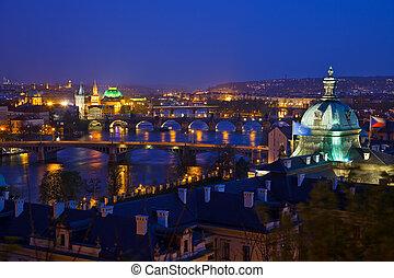 View on Prague Bridges