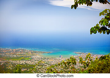 View on Puerto Plata city from the top of Pico Isabel de...
