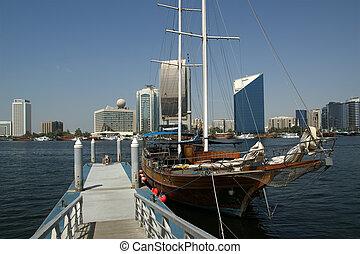 View on quay of Dubai,  UAE ( United Arab Emirates)