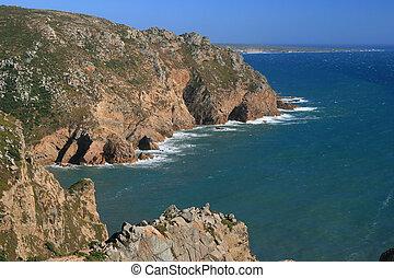 view on rocks in ocean