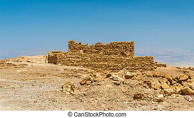 View on ruins of Masada fortress - Judaean Desert, Israel