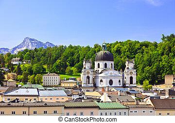 Salzburg, Austria - View on Salzburg, Austria, 2009