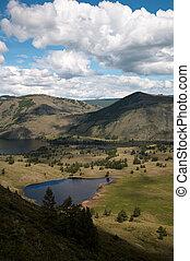 View on Siberian mountain lake - View on Siberian mountain ...