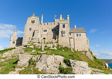 View on St Michaels Mount Cornwall