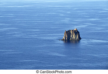 View on the islet in front of Stromboli in the Aeolian Islands, Sicily
