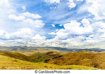 Tagong grassland and Yala mountain in China