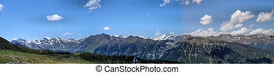 View on the Alpine divide