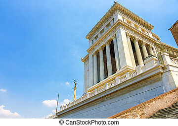 View on the Altare della Patria from the strairs - View on ...