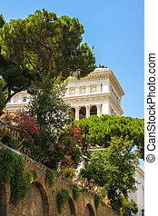 View on the Altare della Patria in Rome, Italy on a sunny ...