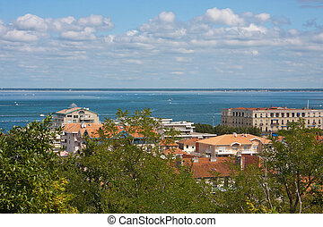 View on the Arcachon Bay, France