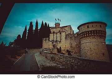 view on the brescia castle