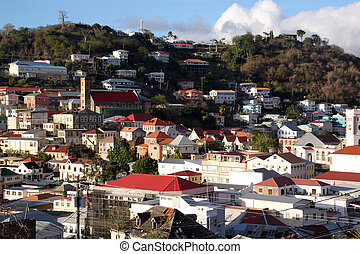 View on the capital of caribean island Grenada