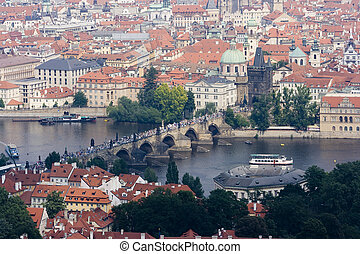 View on the Charles bridge