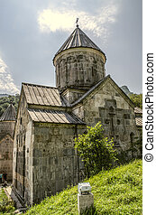 View on the Church of the Blessed Holy Mother located in the monastery of Haghartsin near Dilijan