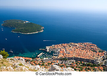view on The city of Dubrovnik in Croatia