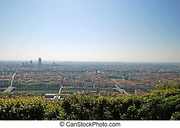 View on the city of Lyon