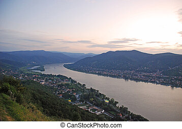 View on the Danube River in Hungary
