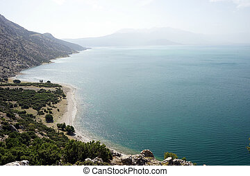 View on the Egirdir lake, Turkey