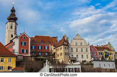 Frohnleiten City - View on the Frohnleiten City in Styria, ...