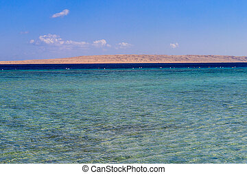 View on the Giftun island in Red sea, Egypt