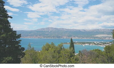 View on the Kastela city from North Marjan park.
