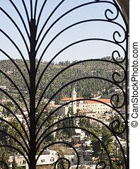 View on the landmarks of Jerusalem .