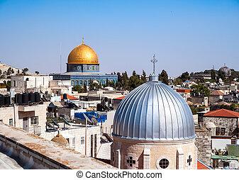 Jerusalem Old City - View on the landmarks of Jerusalem Old...
