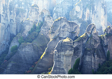 View on the Meteora mountains, Greece