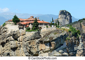 View on the Monastery of Holy Trinity, Meteora, Greece