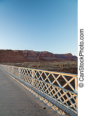 View on the Navajo bridge in Arizona USA