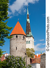 View on the Old City of Tallin
