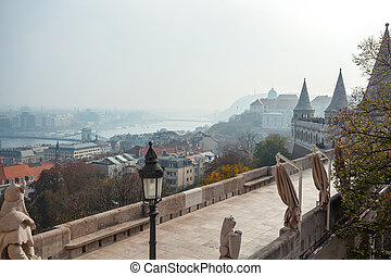 View on the Old Fisherman Bastion in Budapest