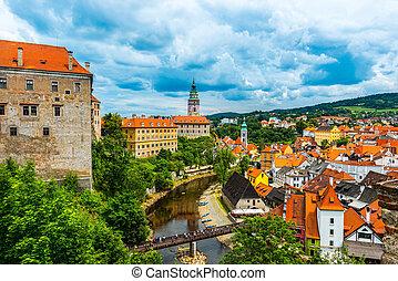 Cesky Krumlov - View on the Old Town Cesky Krumlov, Czech ...