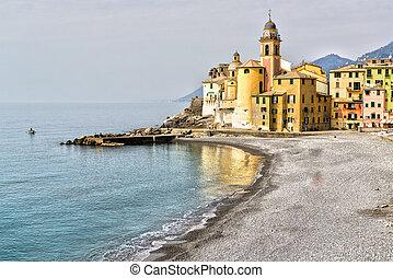 View on the promenade of Camogli