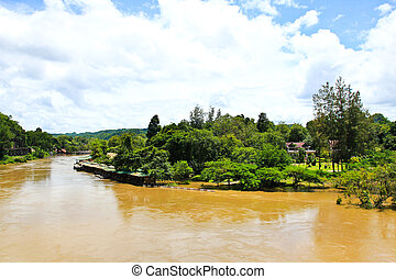 View on the River Kwai. Thailand
