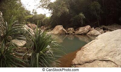 View on the small river near Nha Trang, Vietnam.