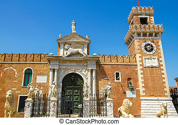 View on the venetian Arsenal in Venice - View on the ...