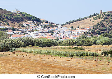 View on the village Aljezur in Portugal