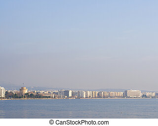 View on Thessaloniki Greece on a sunny day