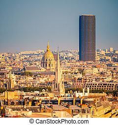 Tour Montparnasse and Les Invalides, Paris