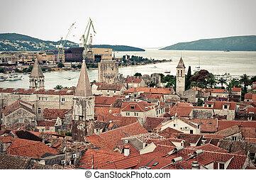 View on Trogir port, Croatia