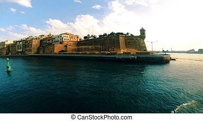 View on Valletta embankment with La Guardiola and Gardjola...