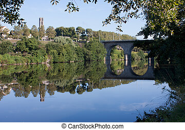 View on Vienne river in Limoges, France
