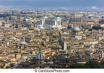 View on Vittoriano and Buildings of Rome from Vatican