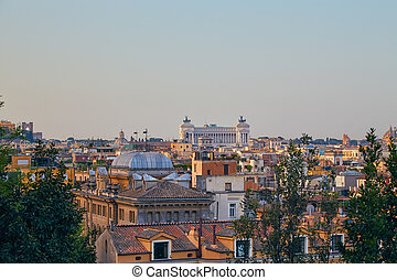 View on Vittoriano monument in Rome