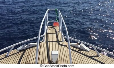 view on yacht bow floating on sea full hd - view on yacht...