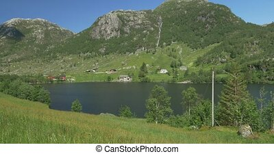 View Onto Norwegian Fjords - Untouched and stabilized...