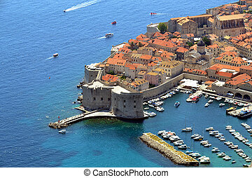 view onto the bay in Dubrovnik