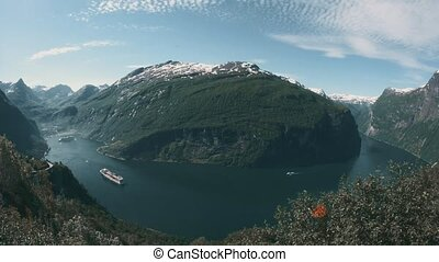View Onto The Geiranger Fjord, Norway - Graded and...