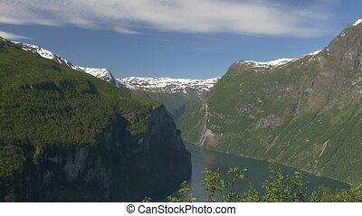 View Onto The Geiranger Fjord, Norway - Native Material,...